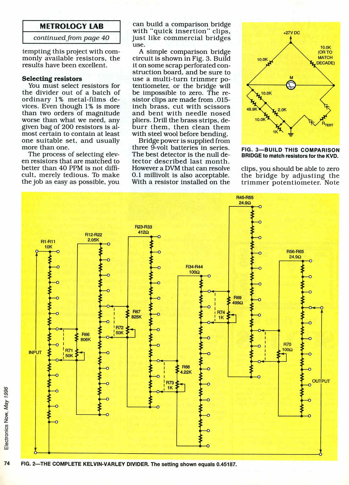 Kelvin Varley Divider And Precision Voltage Source Page 1 Circuit Potential Difference In Resistor Networks Im Thinking On Doing A But Having Some Trouble Finding Information Is There Any Advantage Of Each Stage With Lower