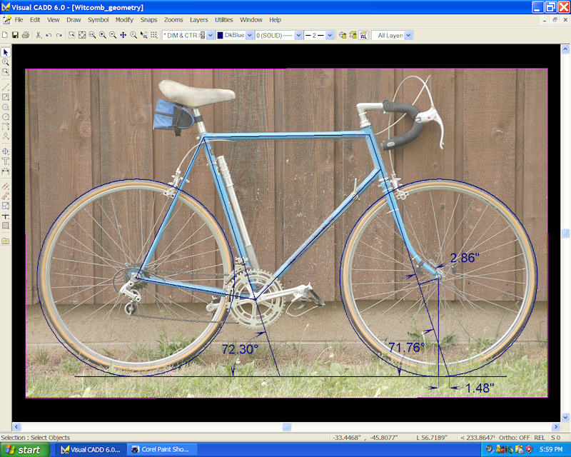 An easy way to measure bicycle frame geometry for Simple cad online