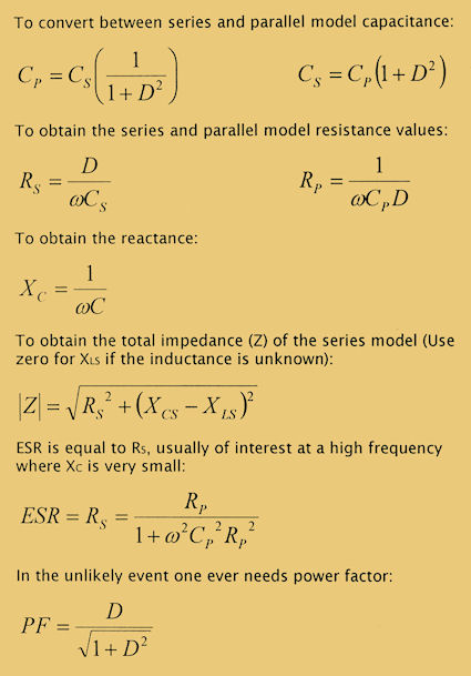 image of series and parallel model formulas