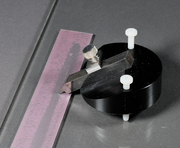 photo of lapping fixture with film