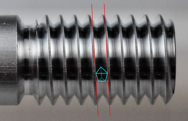 photo of tool tip in thread